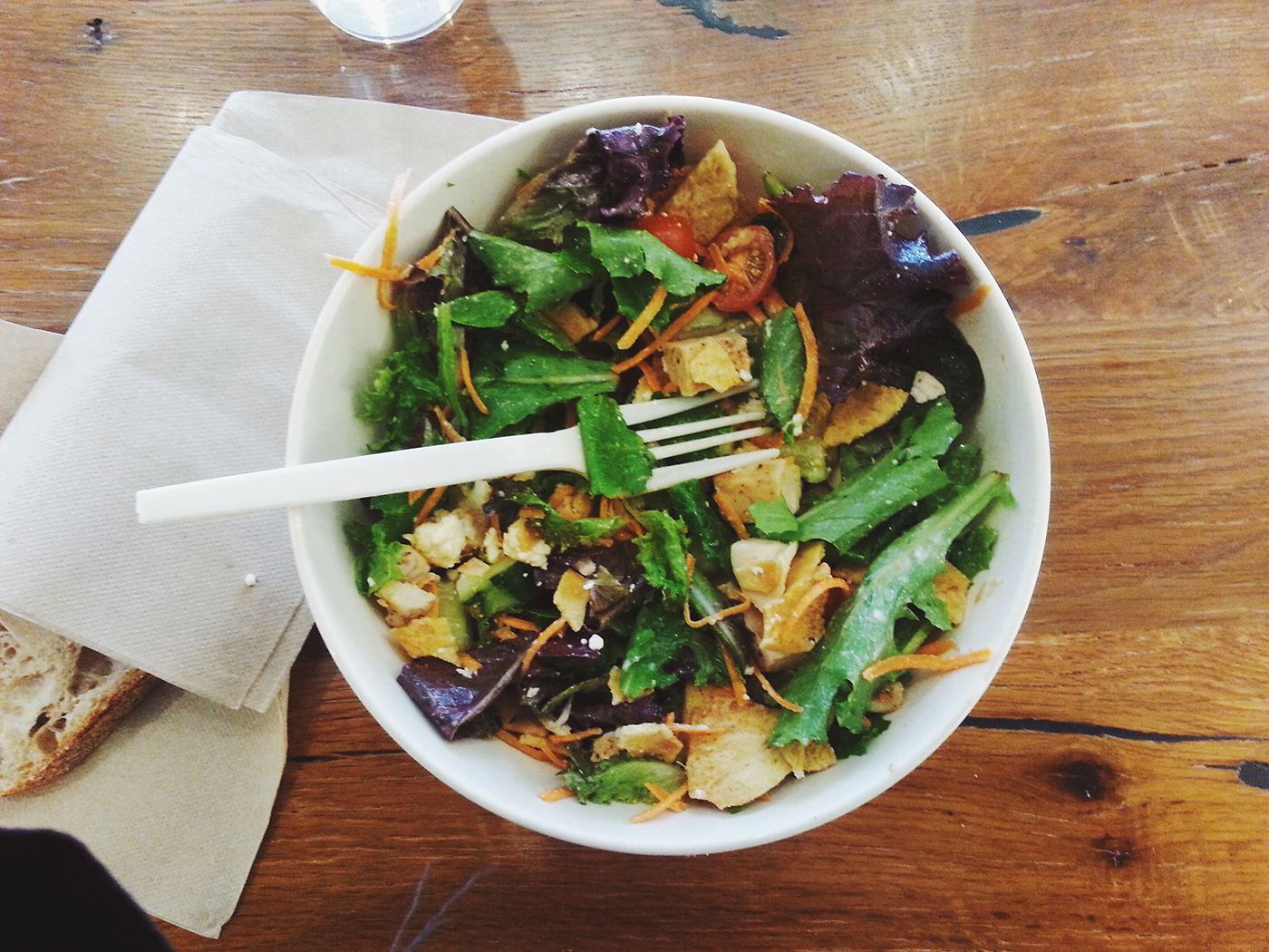 Fresh and delicious salad bowl